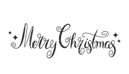 Merry Christmas Vector Retro Text Calligraphy Lettering Design Card Template Holiday Greeting Gift Poster. New Year and holidays concept Xmas. vector illustration