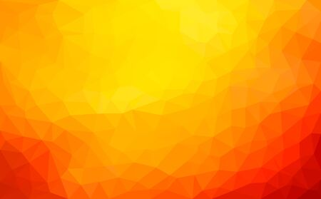 Modern dark orange abstract polygonal mosaic background. Geometric texture background in origami style. low poly style. business design templates. vector illustration