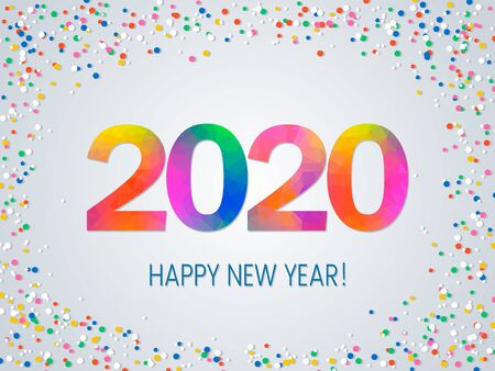 Greeting template for Christmas leaflets, greeting cards, brochures for the new 2020 year.