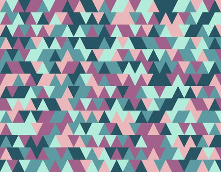 Abstract color seamless background from triangles in ethnic retro style