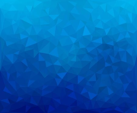 Modern dark blue abstract textured polygonal mosaic background. Geometric texture background in origami style. Фото со стока - 132793339