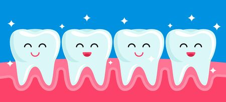 Happy friends healthy teeth are smiling after brushing and whitening.