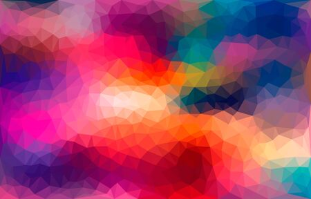 Modern bright blurred abstract polygonal mosaic background. Geometric texture background in origami style.