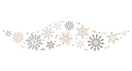 A gray whirlwind of golden snowflakes and stars. New Years element. concept Xmas.