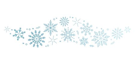 A blue snowflakes and stars. New Years element. concept Xmas.