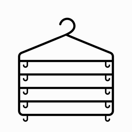 Hanger icon on a white background. shopping and fashion Иллюстрация