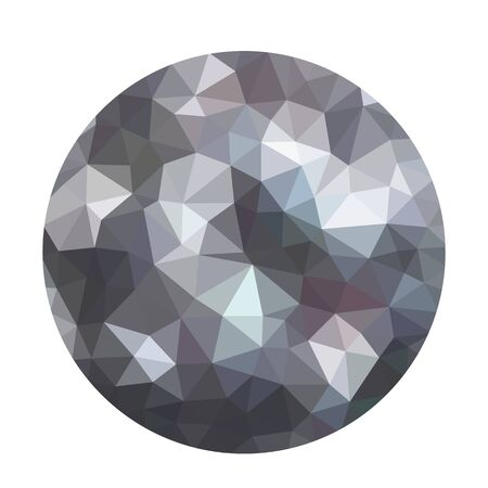 Modern dark gray abstract textured molecule or atom. Geometric ball shape background in origami style. low poly style with blur. business design templates. vector illustration