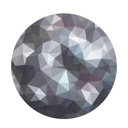 Molécule ou atome texturé abstrait gris foncé moderne. Fond de forme de boule géométrique dans un style origami. style low poly avec flou. modèles de conception d'entreprise. illustration vectorielle