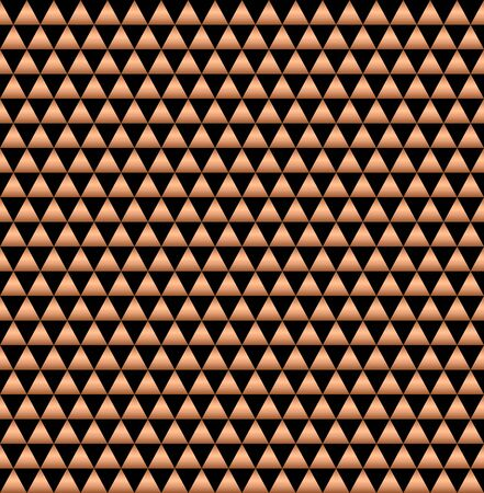 Abstract geometric golden seamless painted black background. Endless pattern of holiday packaging. polygonal geometric vector illustration