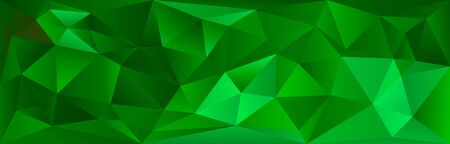 Modern bright abstract polygonal mosaic background. Geometric texture background in green color origami style. Christmas background. Low poly style. business design templates. vector illustration