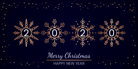 Greeting card and invitation. there is an inscription 220 inside the snowflakes. Design element for greeting cards for banners, invitations and flyers. Xmas concept. vector