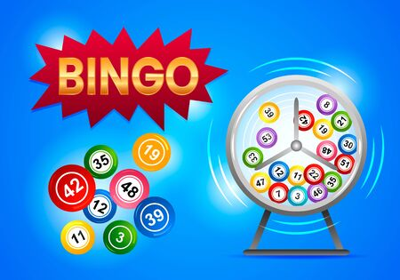 Spin the drum with bingo balls. Lottery Counter.