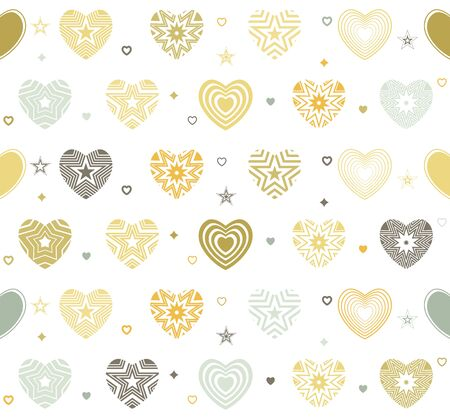 Heart seamless background. Abstract modern hearts for t-shirt design, wedding card, invitation, valentines day poster, brochures, mothers day, textile fabric, clothes. vector Vettoriali
