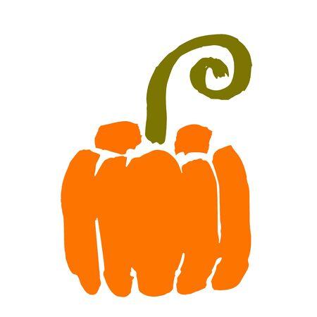 Sketch of a brush ripe pumpkin. Thanksgiving, Halloween concept.