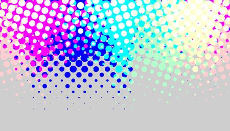 Abstract modern bright halftone background. banner or poster for advertising.  イラスト・ベクター素材