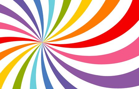 Colored bright rays vector carnival background. Circus themed sunlight. Holiday abstract retro vector background.