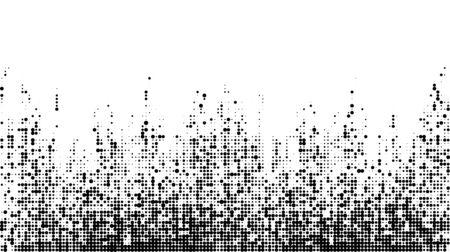Modern random pixel pattern template. Monochrome art smoothing effect. halftone dots style.  イラスト・ベクター素材