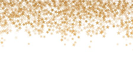 Abstract texture of the night sky with falling golden stars. vector illustration on white background