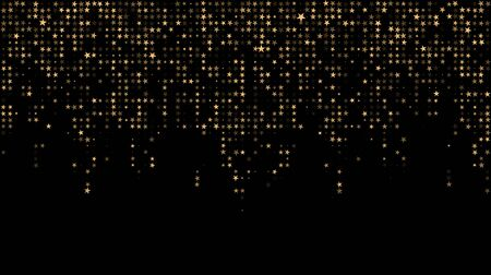 Modern pattern of randomly falling stars. Monochrome art smoothing effect. festive halftone dots style.