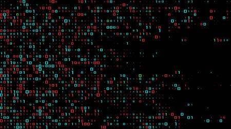 A stream of binary matrix code on the screen. numbers of the computer matrix. The concept of coding, hacker or mining of crypto-currency bitcoin. Vector illustration.  イラスト・ベクター素材