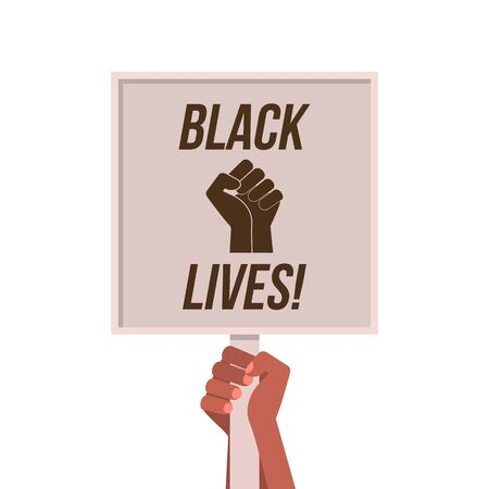 protest banner. black life matters.  vector illustration