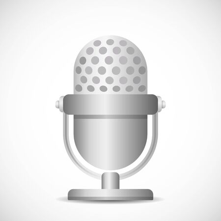 modern microphone for online streams, music. vector illustration isolated on white background