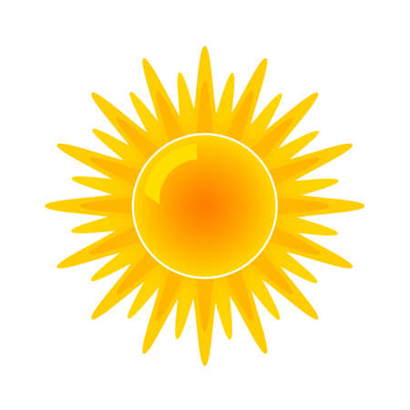 Sun icon for weather forecast. flat vector illustration isolated