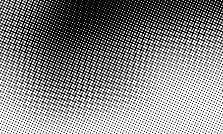 Abstract black halftone pixels background for web design. flat vector illustration Ilustração