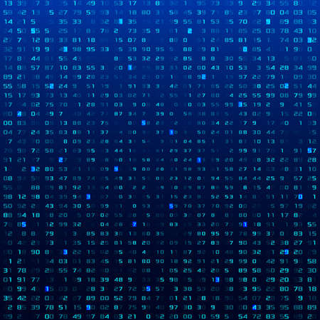 A stream of binary matrix code on the screen. numbers of the computer matrix. Vector Illustration