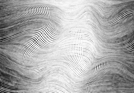 Abstract wavy texture in black and white stripes. Ilustração