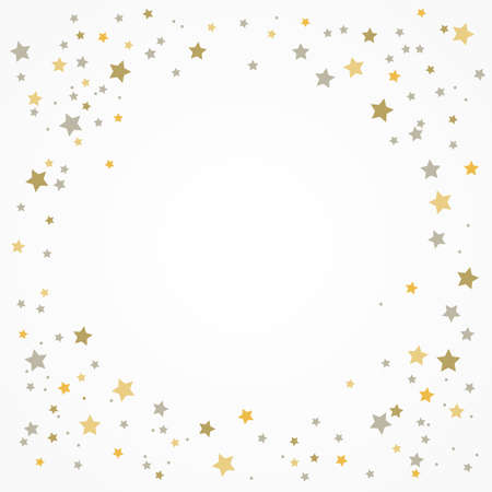 holiday card with stars on a white background with place for your text. Ilustração