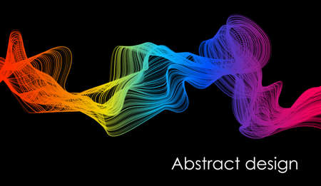 3d optical abstract black wave. vector illustration. abstract art banner