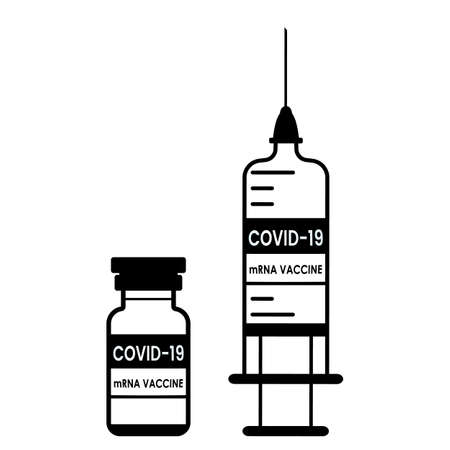 Covid-19 vaccine vial. The concept of prevention of coronavirus disease in the world. vector illustration isolated on white background