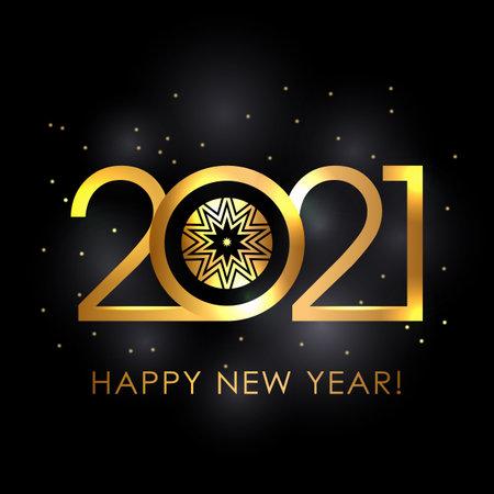 festive new year card happy new year 2021.