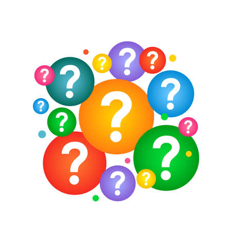 Concept of frequently asked questions in education, business, ideas..