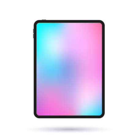 modern tablet with a bright screen. vector illustration.icon isolated on white background