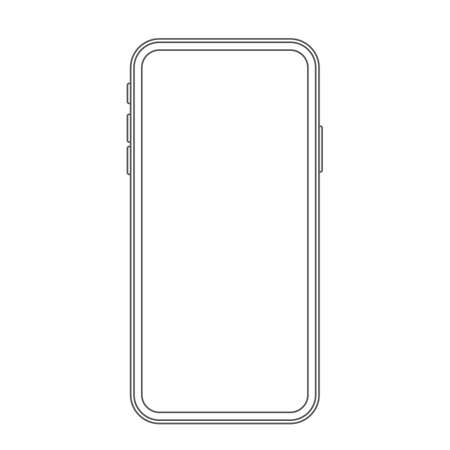 modern phone with a bright screen. vector illustration.icon isolated on white background