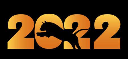 Happy Chinese New Year. zodiac sign symbol tiger 2022. Ilustração