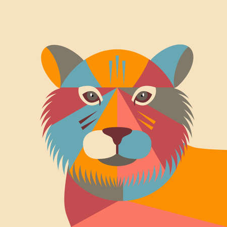 Happy Chinese New Year. zodiac sign symbol tiger head 2022. Ilustração