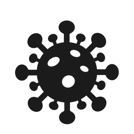 Coronavirus bacteria flat icon isolated on white background. vector illustration