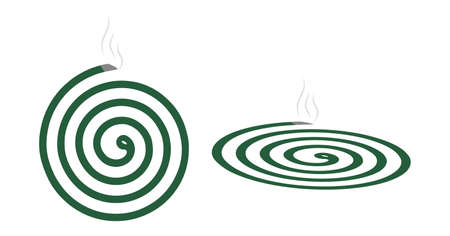 Mosquito Repellent Coil Icon.Killer of insects, mosquitoes, flies. smoldering incense spiral. vector illustration isolated on white background