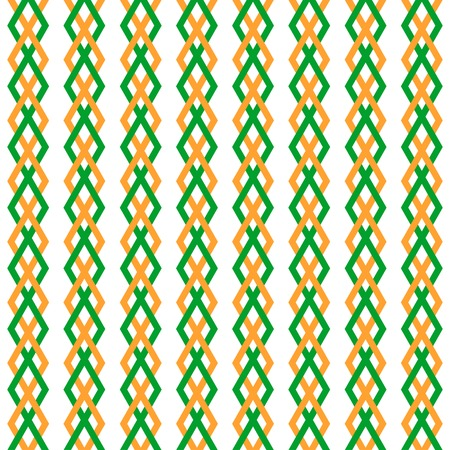 lozenge: Retro geometric pattern. Orange and green colors