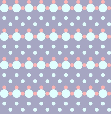 pastel tone: Abstract seamless geometric pattern. Chain of circles in pastel colors Illustration