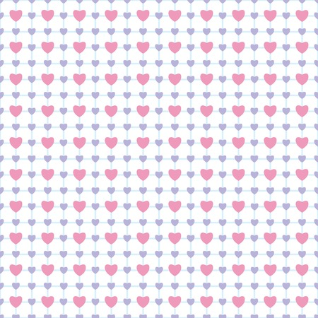 Gentle romantic seamless pattern with hearts Vector