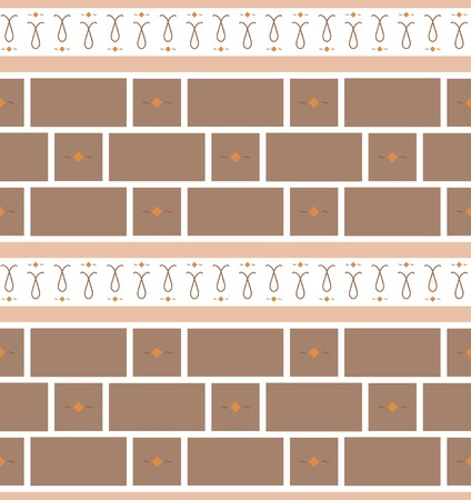 Refined modern seamless geometric wallpaper pattern. Brown and orange colors