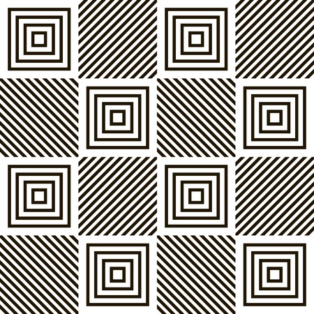 cellule: Abstract seamless geometric black and white pattern. Volume and motion optical effect