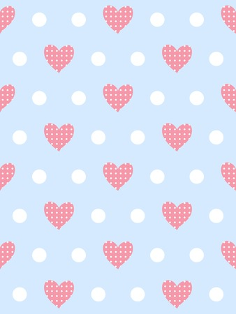 Gentle romantic seamless pattern with hearts and peas Vector