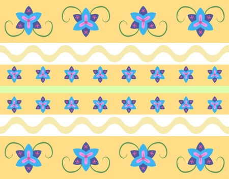 Seamless floral wallpaper pattern in retro style Vector