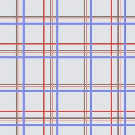 intersecting: Seamless checkered pattern. Blue, red, brown intersecting lines, light gray background. Volume optical effect Illustration