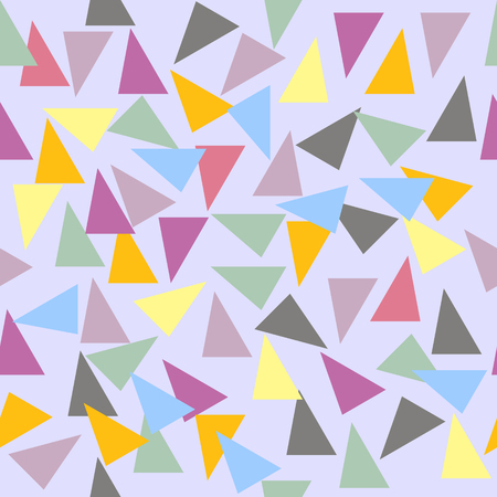varicolored: Abstract seamless geometric pattern. Randomly scattered varicolored triangles